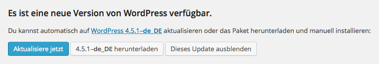 wordpress-update-version