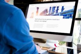 Webdesign für Cologne Strategy Group auf dem iMac