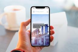 Webdesign für Cologne Strategy Group auf dem iPhone