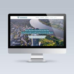 Webdesign für Rechtsanwaltskanzlei von Preuschen