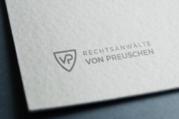 Logoerstellung für Rechtsanwaltskanzlei von Preuschen