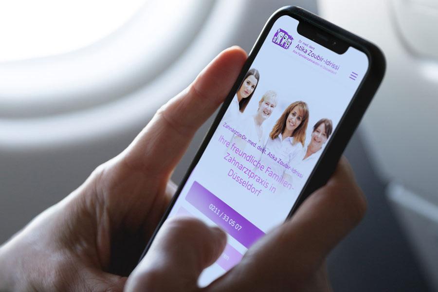 Webdesign Köln - Mobile Webseitenoptimierung für Zahnärzte