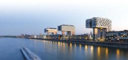 Köln - Blick von der Severinsbrücke auf die Kranhäuser